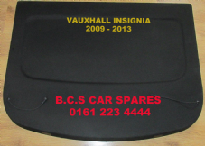 VAUXHALL INSIGNIA  PARCEL SHELF   2009 - 2013  USED   BLACK  ( HATCHBACK ONLY )